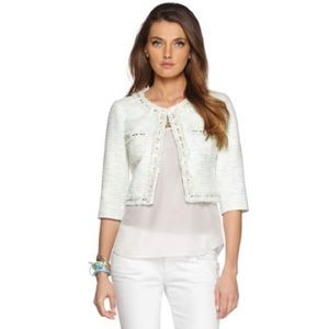 Lilly Pulitzer Crystal Waters Lia Boucle Jacket